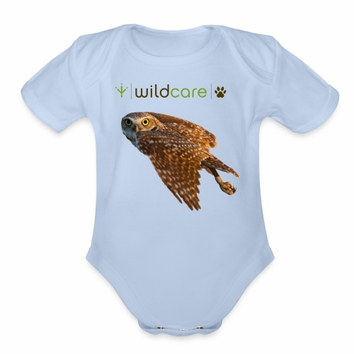 Burrowing Owl in Flight - Organic Short Sleeve Baby Bodysuit