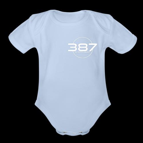 387 Entertainment White - Organic Short Sleeve Baby Bodysuit