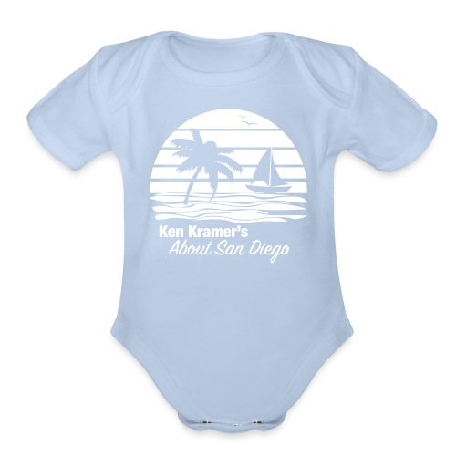 Ken's Awesome Monochrome Logo - Organic Short Sleeve Baby Bodysuit