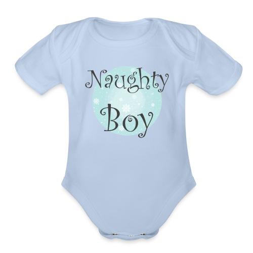 Naughty Boy - Organic Short Sleeve Baby Bodysuit