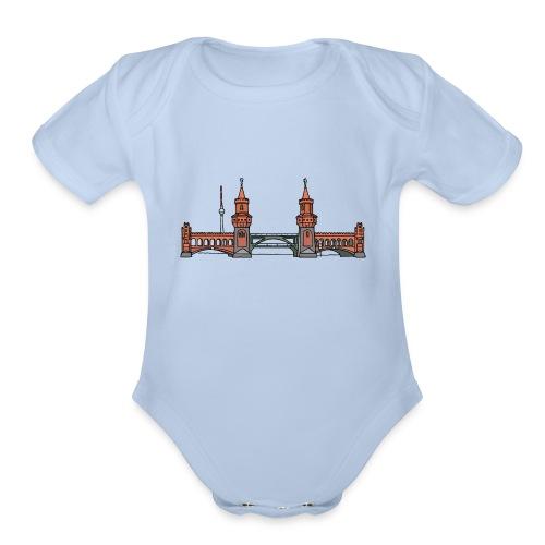 Oberbaum Bridge Berlin - Organic Short Sleeve Baby Bodysuit