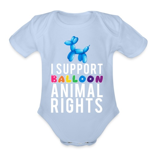 Balloon Animal - Organic Short Sleeve Baby Bodysuit