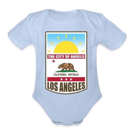 Los Angeles - California Republic - Organic Short Sleeve Baby Bodysuit