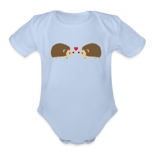 Hedgehog Lovers - Organic Short Sleeve Baby Bodysuit