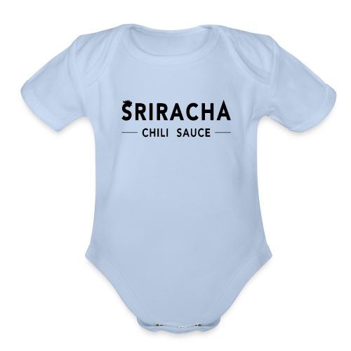 sriracha sauce merch - Organic Short Sleeve Baby Bodysuit