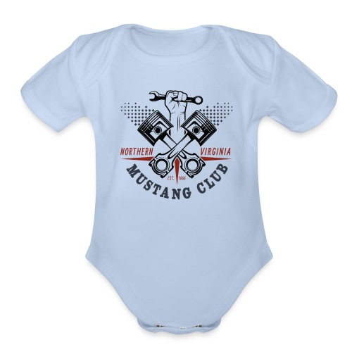 Crazy Pistons - Organic Short Sleeve Baby Bodysuit