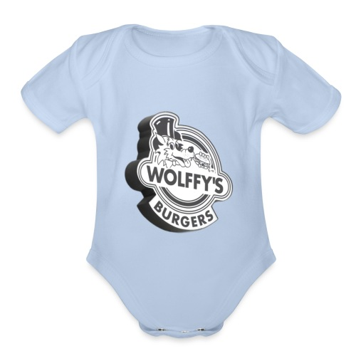 Wolffy's Hamburgers - Organic Short Sleeve Baby Bodysuit