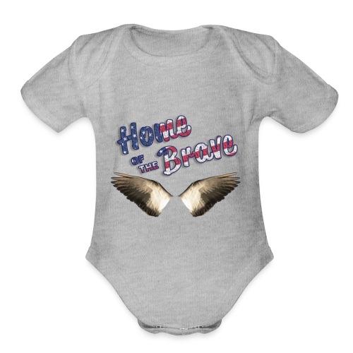 Home of the Brave - Organic Short Sleeve Baby Bodysuit