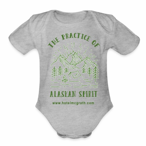 Alaskan Spirit green - Organic Short Sleeve Baby Bodysuit