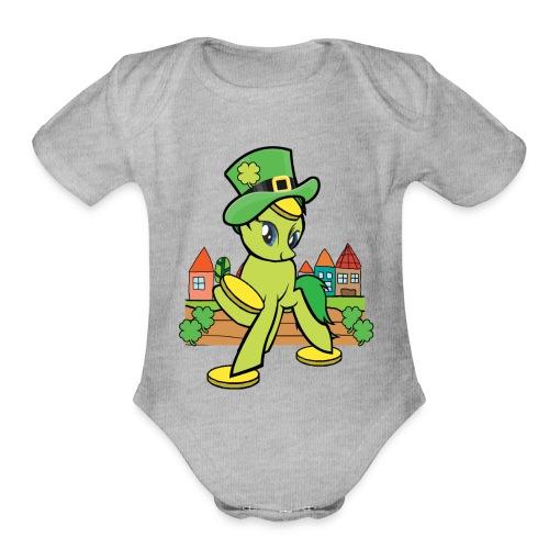 Irish Lucky Pony - Organic Short Sleeve Baby Bodysuit