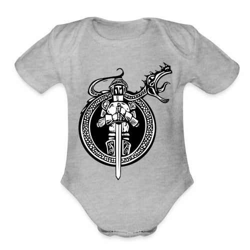 logo knight - Organic Short Sleeve Baby Bodysuit