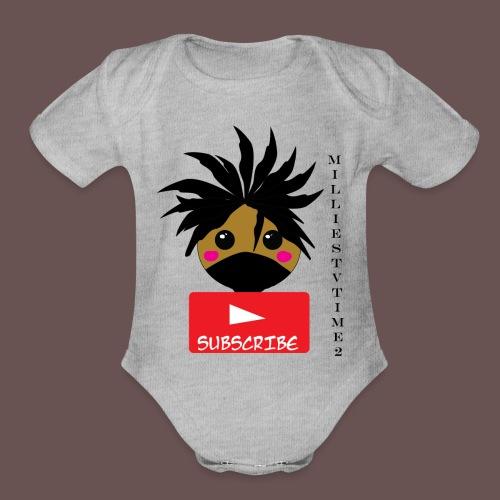MilliesTVTime2 Subscribe - Organic Short Sleeve Baby Bodysuit