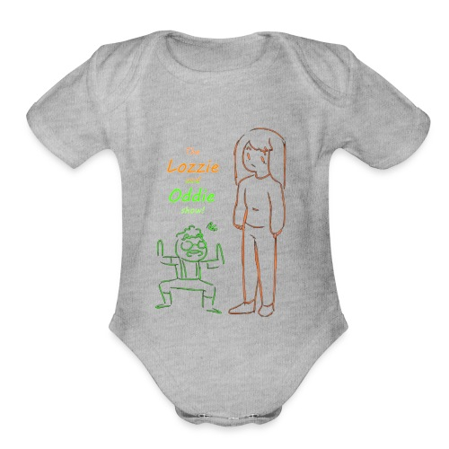 lozzie and oddie show!!!! - Organic Short Sleeve Baby Bodysuit