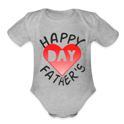 New collection for FATHER'S DAY - Organic Short Sleeve Baby Bodysuit