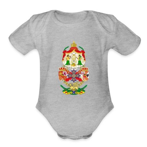 Ethiopian Empire Coat of arms Crest Crown Council - Organic Short Sleeve Baby Bodysuit