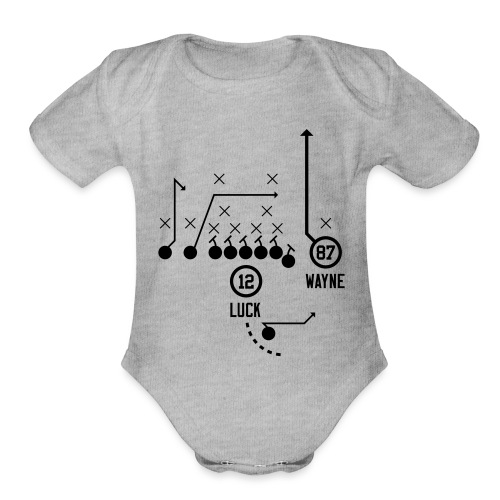 X O Andrew Luck to Reggie Wayne - Organic Short Sleeve Baby Bodysuit