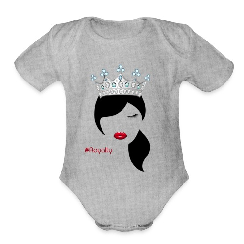 Hashtag Royalty - Organic Short Sleeve Baby Bodysuit