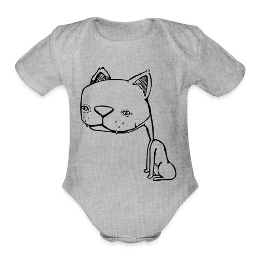 Meowy Wowie - Organic Short Sleeve Baby Bodysuit