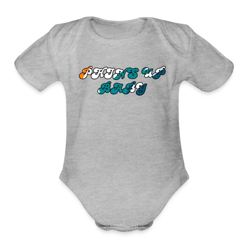 PHINS UP BABY - Organic Short Sleeve Baby Bodysuit