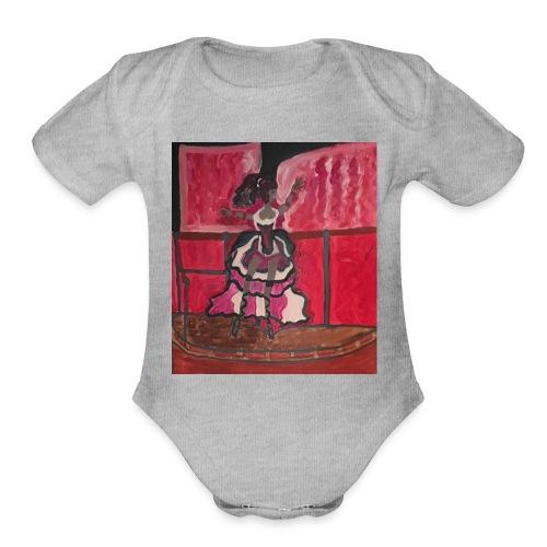 Dance Dance Be positive - Organic Short Sleeve Baby Bodysuit