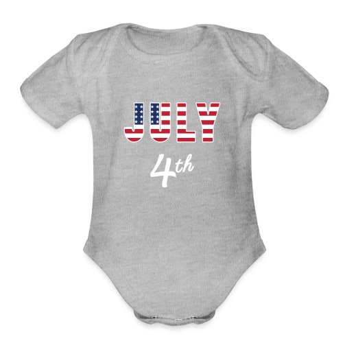 July 4th - Organic Short Sleeve Baby Bodysuit