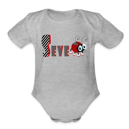 7nd Year Family Ladybug T-Shirts Gifts Daughter - Organic Short Sleeve Baby Bodysuit