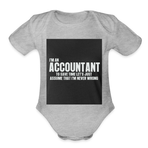 accountant - Organic Short Sleeve Baby Bodysuit