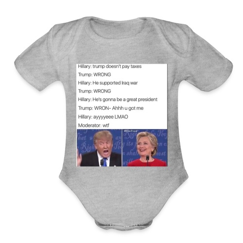 President Donald trump getting played by Hillary - Organic Short Sleeve Baby Bodysuit