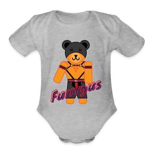 Leather Furrrgus - Organic Short Sleeve Baby Bodysuit