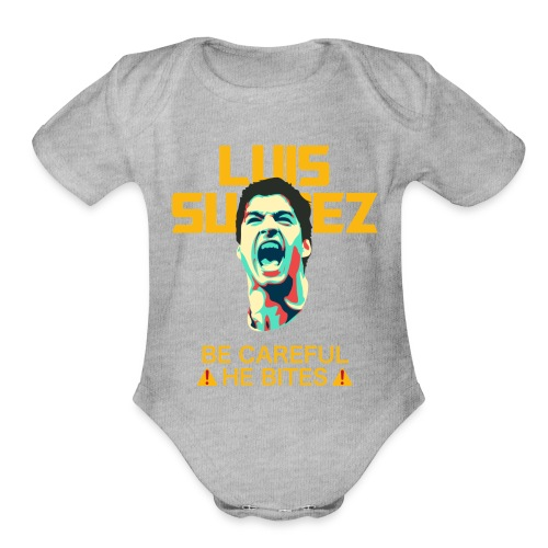 luis suarez - Organic Short Sleeve Baby Bodysuit