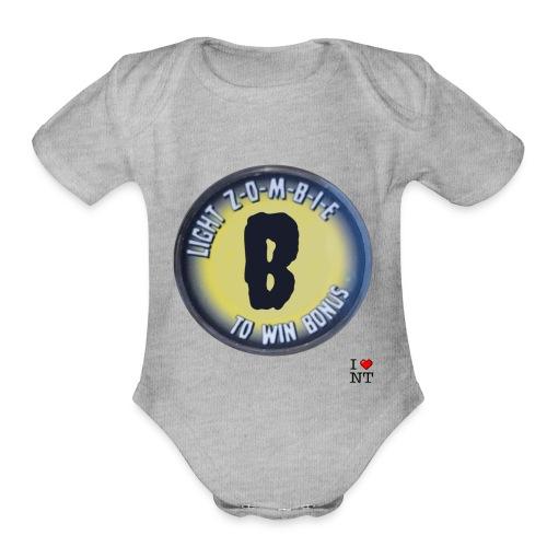 Zombie B - Organic Short Sleeve Baby Bodysuit