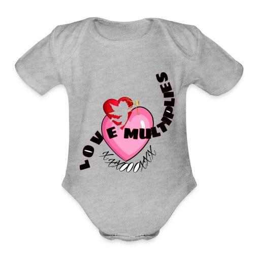 Love multiplies - Organic Short Sleeve Baby Bodysuit