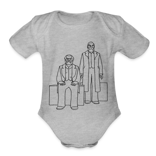 Marx-Engels Forum Berlin - Organic Short Sleeve Baby Bodysuit