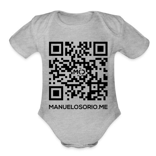 back_design9 - Organic Short Sleeve Baby Bodysuit