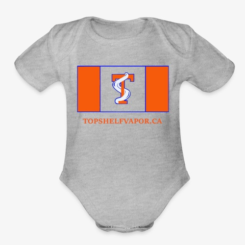 topshelfcanadaworld - Organic Short Sleeve Baby Bodysuit