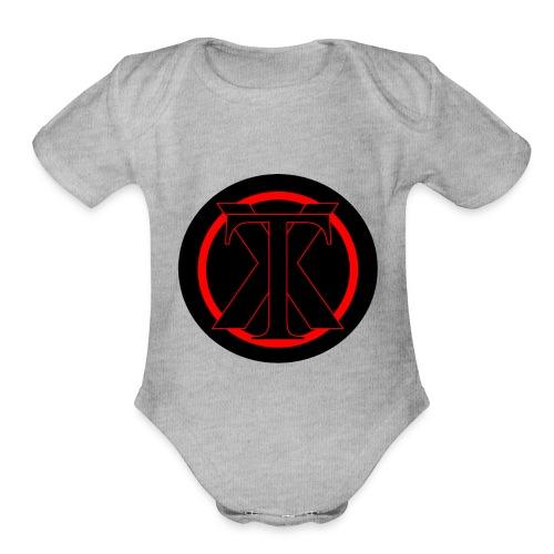 XenoTrader Logo New - Organic Short Sleeve Baby Bodysuit
