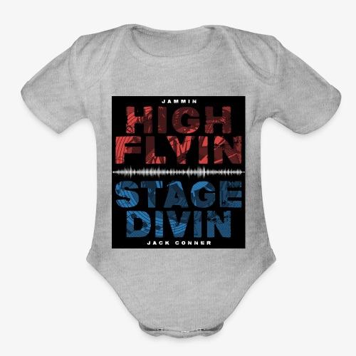 High Flyin Stage Divin - Organic Short Sleeve Baby Bodysuit