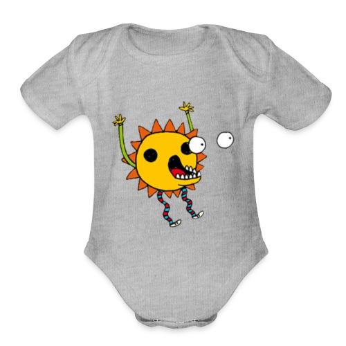 Scary flower - Organic Short Sleeve Baby Bodysuit