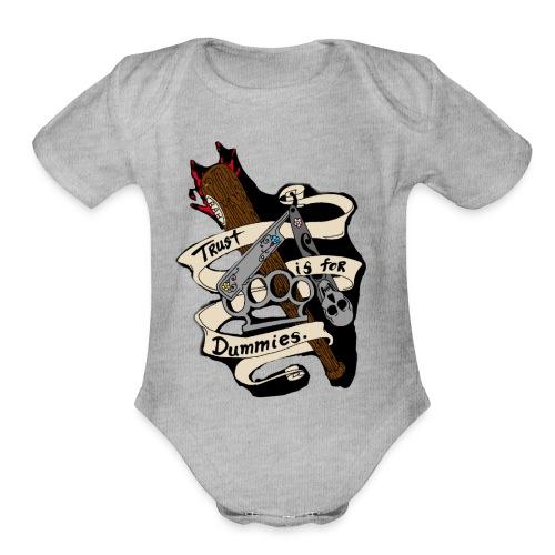Og team bah - Organic Short Sleeve Baby Bodysuit