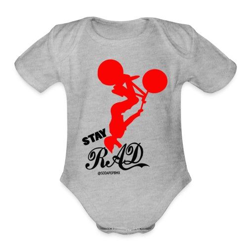 Stay Rad Black - Organic Short Sleeve Baby Bodysuit