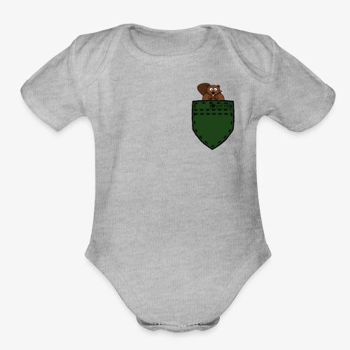 hemd squirell green - Organic Short Sleeve Baby Bodysuit