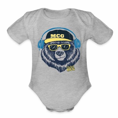 MCG BEAR - Organic Short Sleeve Baby Bodysuit