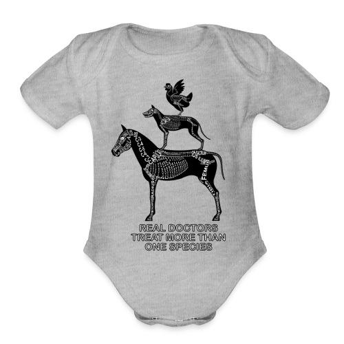Real doctors ... Small - Organic Short Sleeve Baby Bodysuit