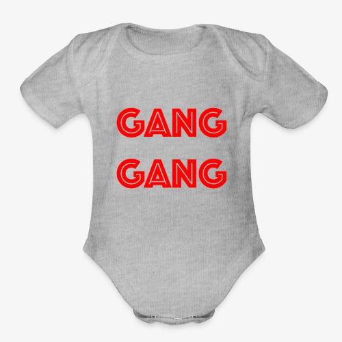 GANG GANG - Organic Short Sleeve Baby Bodysuit