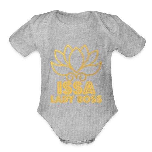 Issa Lady - Organic Short Sleeve Baby Bodysuit