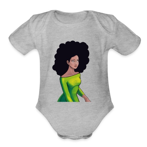searchful eyes. - Organic Short Sleeve Baby Bodysuit