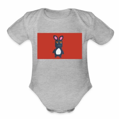 Flat Monster - Organic Short Sleeve Baby Bodysuit