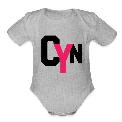 CYN logo - Organic Short Sleeve Baby Bodysuit