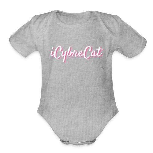 iCybreCat Script - Organic Short Sleeve Baby Bodysuit