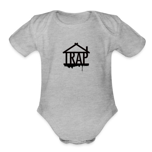 Trap - Organic Short Sleeve Baby Bodysuit